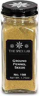 The Spice Lab No. 198 - Ground Fennel Seeds - Kosher Gluten-Free Non-GMO All Natural Seeds - French Jar