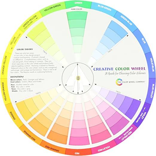 Color Wheel Pocket Size Paper Color Card Paint Learning Guide Mix Artist Chart U