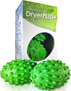 Dryer Balls XL | The Best Permanent Non Toxic, Allergy & Chemical Free Fabric Softener | Replaces Liquid Softener, Dryer Sheets & Wool Dryer Balls | Vegan & Sheep Safe | 2-Year Warranty