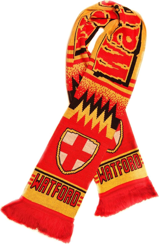 Watford FC Scarf | Authentic Soccer Fan Scarf | Premium Acrylic Knit