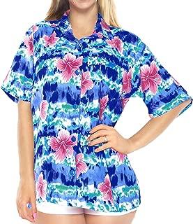 Womens Hawaiian Blouse Shirt Dress Shirts Short Sleeve Shirts Printed A