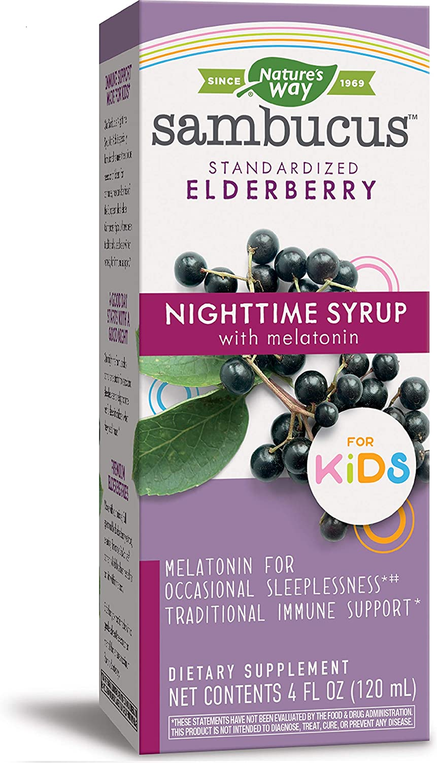 Nature's San Francisco Mall Way Direct sale of manufacturer Sambucus Nighttime Syrup Kids for