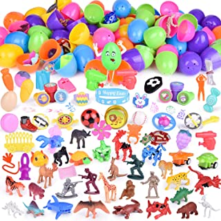 100PCs Egg Toys Filled with Small Toys for Surprised Eggs, Kids Party Favors, Prizes