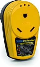 Camco Adapter PowerDefender Circuit Analyzer with Integrated Surge Protection and Indicator Lights, Male to 30 Amp Female (55310)