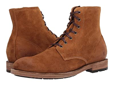 Frye Bowery Lace-Up (Wheat Oiled Suede) Men