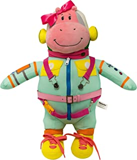Wekom Hippomottie Learn to Dress Basic Skills Toy. Space Hippo Pink Girl Design - 21""