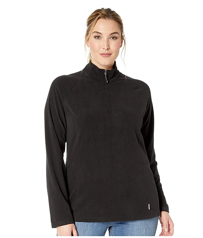 White Sierra Plus Size Alpha Beta 1/4 Zip (Black) Women