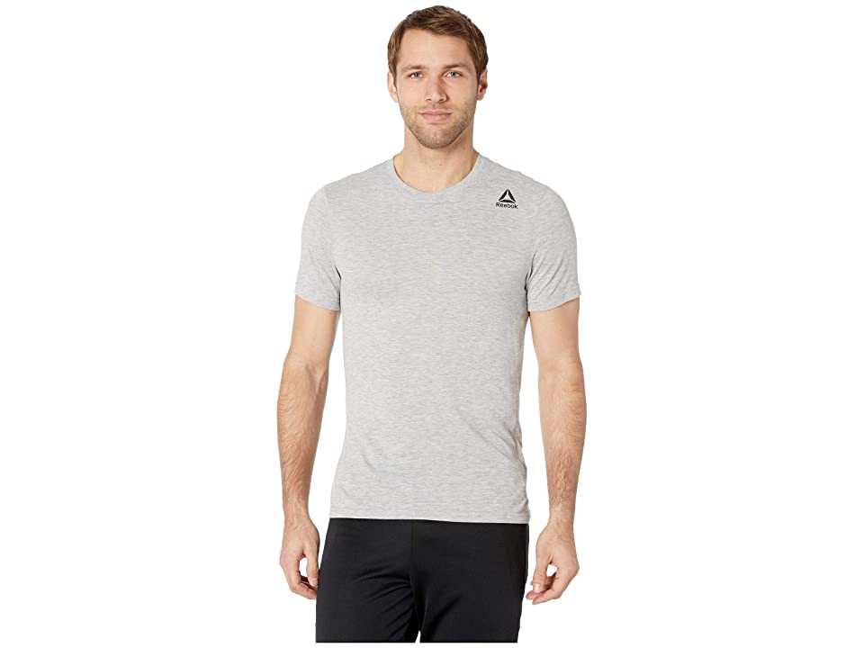 Reebok Workout Surpremium 2.0 Tee (Medium Grey Heather) Men's T Shirt, Gray