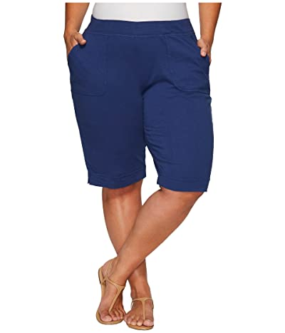 Fresh Produce Plus Size Key Largo Pedal Pusher (Moonlight Blue) Women