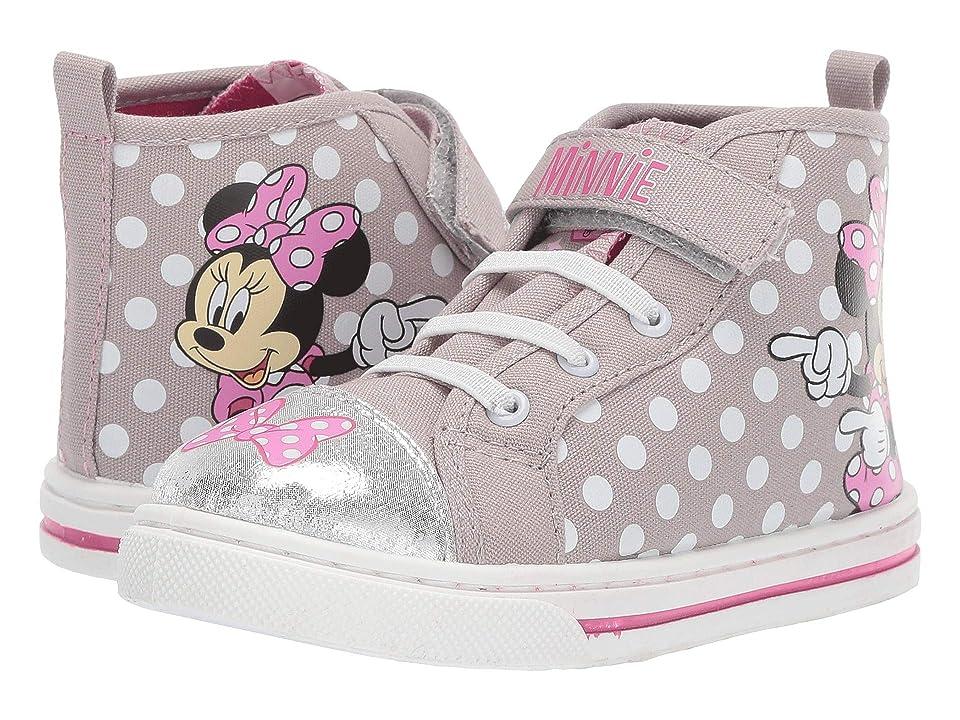 Josmo Kids Minnie High Top Sneaker (Toddler/Little Kid) (Grey) Girl