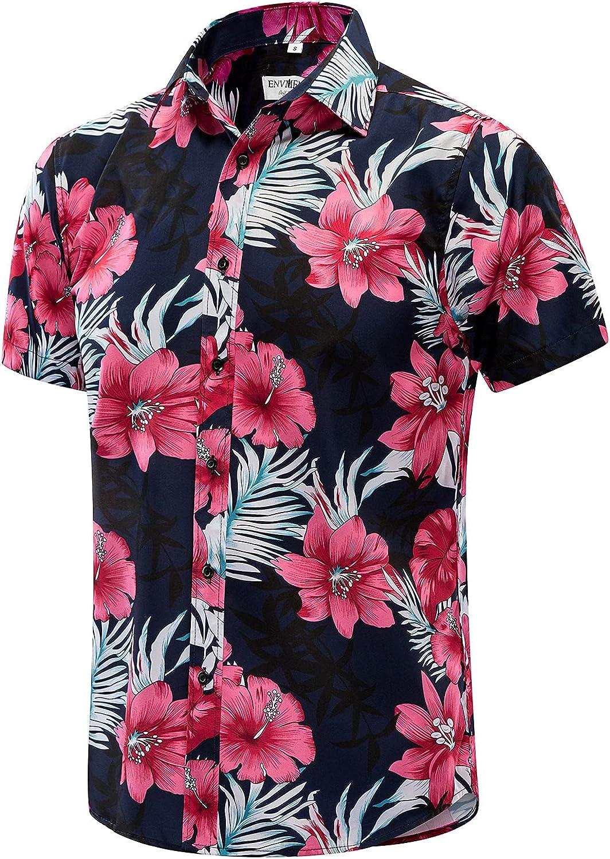 EVNMENST Hawaiian Shirt for Men Beach Printed Sleeve Summe Short Ranking TOP18 Washington Mall