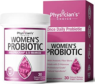 Prebiotics & Probiotics for Women - Clinically Proven ProCran - Organic Prebiotics, 50 Billion CFU, D-Mannose & Cranberry ...