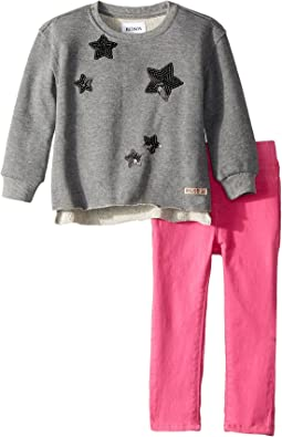 Hudson Kids - Two-Piece French Terry Pullover Sweatshirt w/ Sateen Pants Set (Infant)