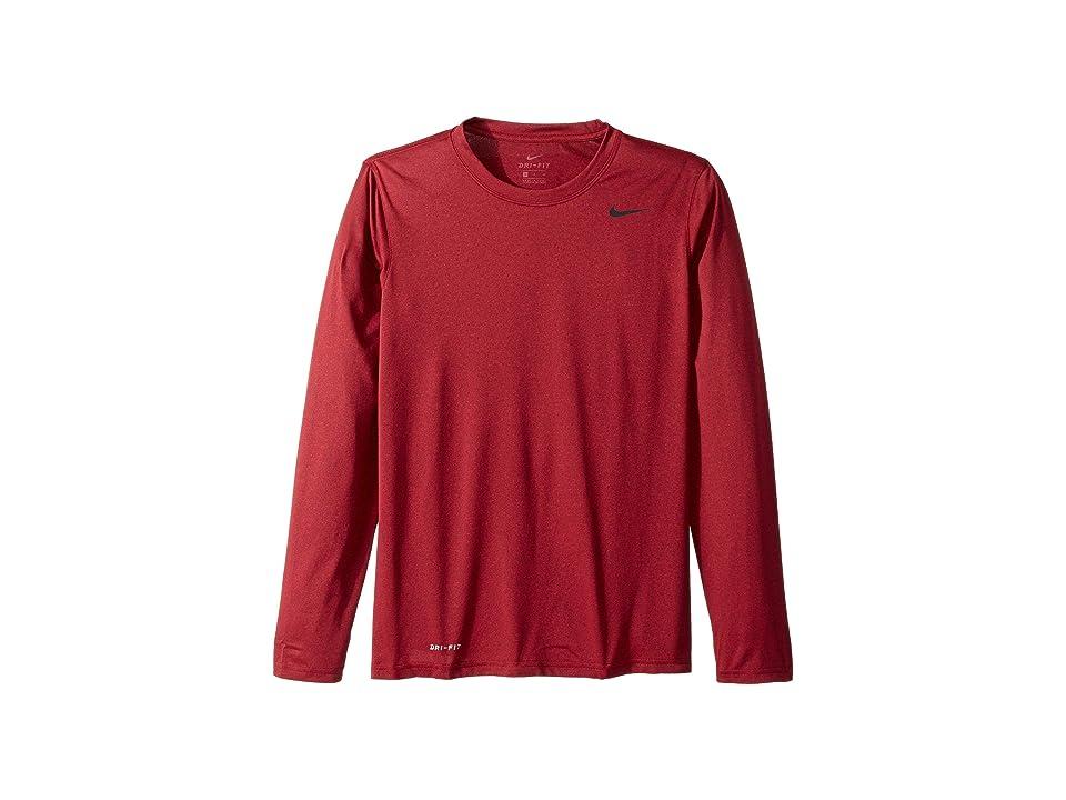 Nike Legend 2.0 Long Sleeve Tee (Burgundy Crush/Red Crush) Men