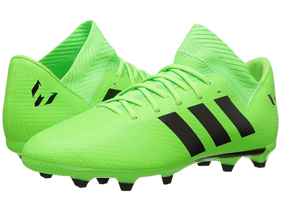 adidas Kids Nemeziz Messi 18.3 FG Soccer (Little Kid/Big Kid) (Solar Green/ Core Black/ Solar Green) Kids Shoes