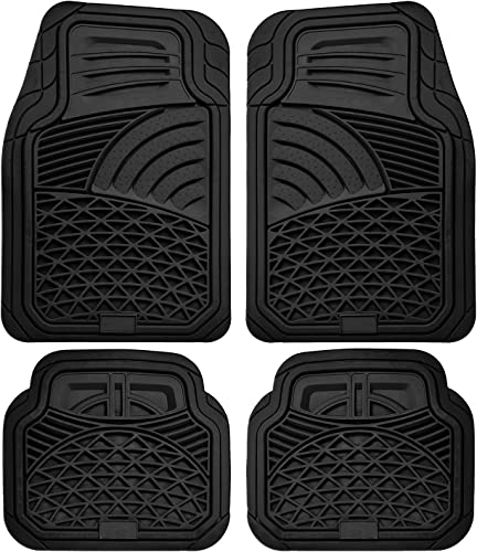 lowest Floor Mats for Cars Trucks SUVs (4 Piece Set) All Weather Heavy Duty Rubber Car Accessories online sale Best for Auto Truck popular SUV Van Waterproof Interior Automobiles Liners Covers - Black Semi Custom Tactical Mat online
