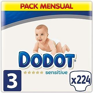 Dodot Sensitive - Pañales, Talla 3 ( 6-10 kg), 224 Pañ