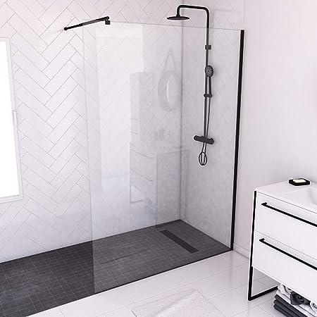 Paroi de douche verre au central d/époli 140x200 paroi de douche avec barre de fixation 900mm q