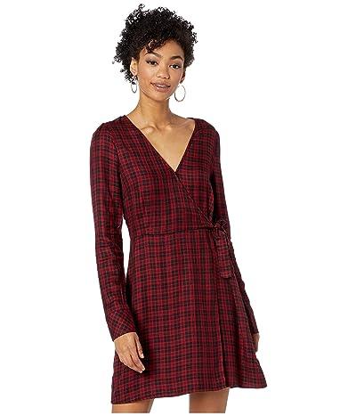 Sanctuary Upbeat Wrap Dress (New Romantic Plaid) Women