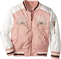 Satin Bomber with Chest Embroidery (Toddler)