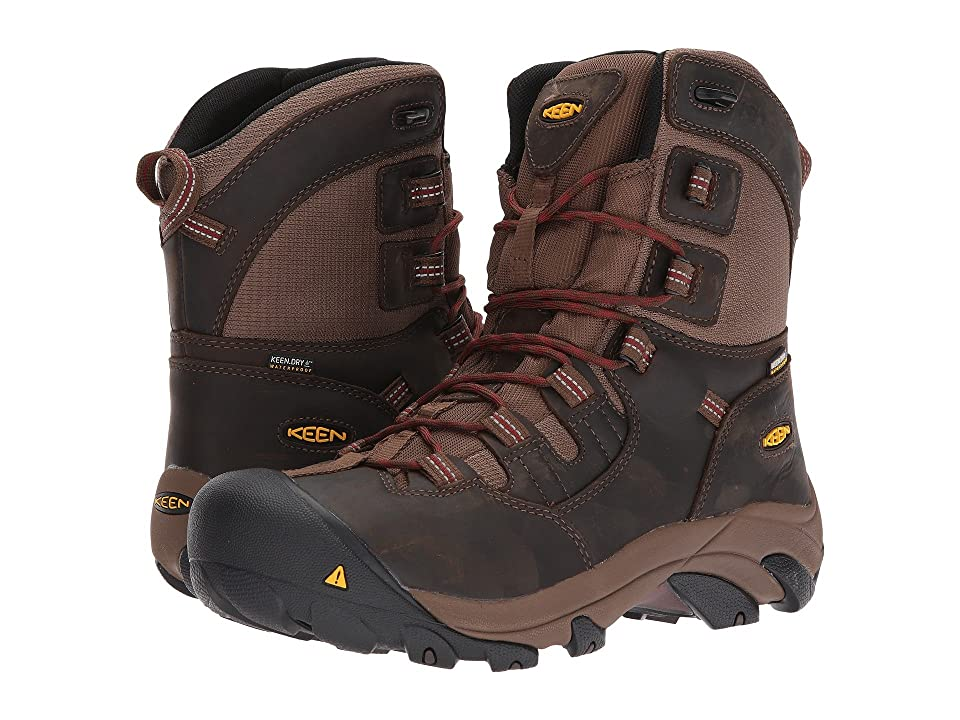 Keen Utility Detroit 8 Soft Toe Waterproof (Dark Earth/Burnt Henna) Men