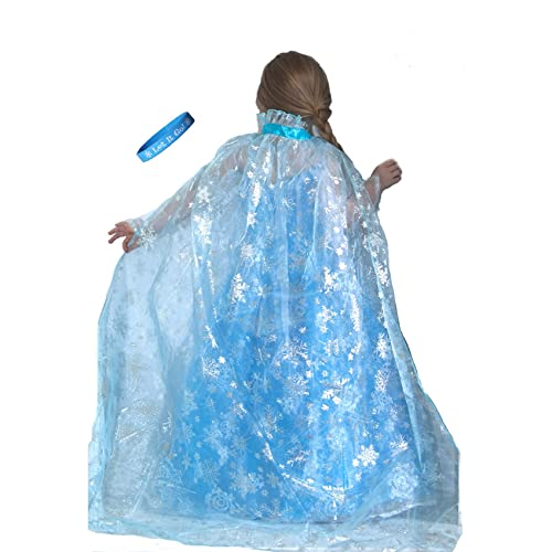 Lilly and the Bee Novelties Frozen Ice Princess Snowflake Cape with Let It Go Band