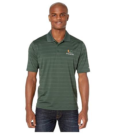 Champion College Miami Hurricanes Textured Solid Polo (Dark Green) Men