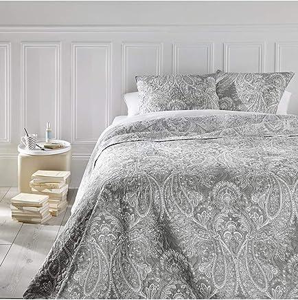 586ec5bcfa Set aus Tagesdecke und 2 Kissenbezügen – Große Größe – romantischer Stil –  Farbe Grau und