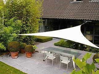AXT SHADE Toldo Vela de Sombra Triangular 3,6 x 3,6 x 3,6 m, protección Rayos UV Impermeable para Patio, Exteriores, Jardín, Color Crema