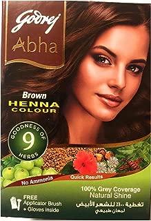 Godrej Abha Brown Henna Colour - 100% grey coverage