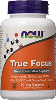 Now Foods True Focus, 90 Veg Capsules (2 Pack)