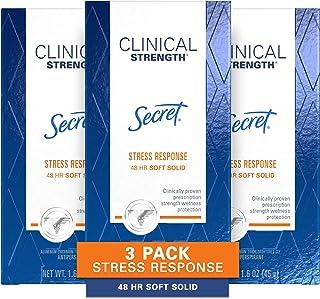 دئودورانت مخفی ضد افسردگی برای زنان ، مقاومت بالینی جامد نرم ، پاسخ به استرس ، 1.6 اوز ، بسته 3