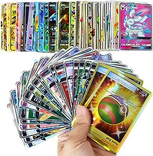 120 pcs Poke Cards GX Style Card(Mega Cards, Includes 35 Mega Cards 25 Ultra Beast GX)-2019 GX Collection
