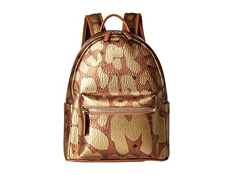 MCM Stark MCM Leopard Print Backpack Small