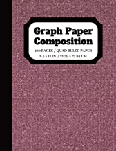 Graph Paper Composition: Graph paper pages and White Paper Blank Notebook | Squared Graphing Paper | Quad Ruled | 5 squares per inch | 100 pages | 8.5 x 11 in. (graph paper composition notebook)