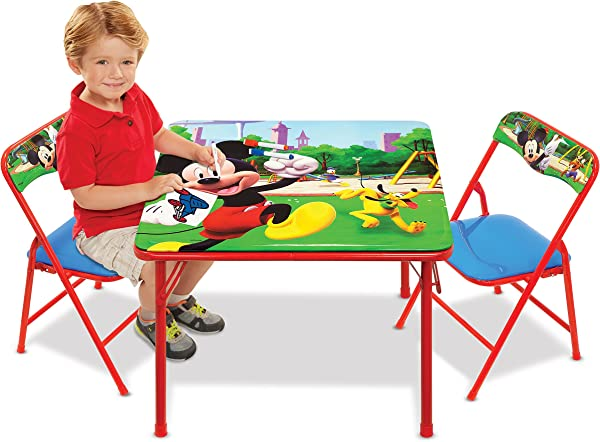 Mickey Mouse Table Chairs Set For Kids Furniture