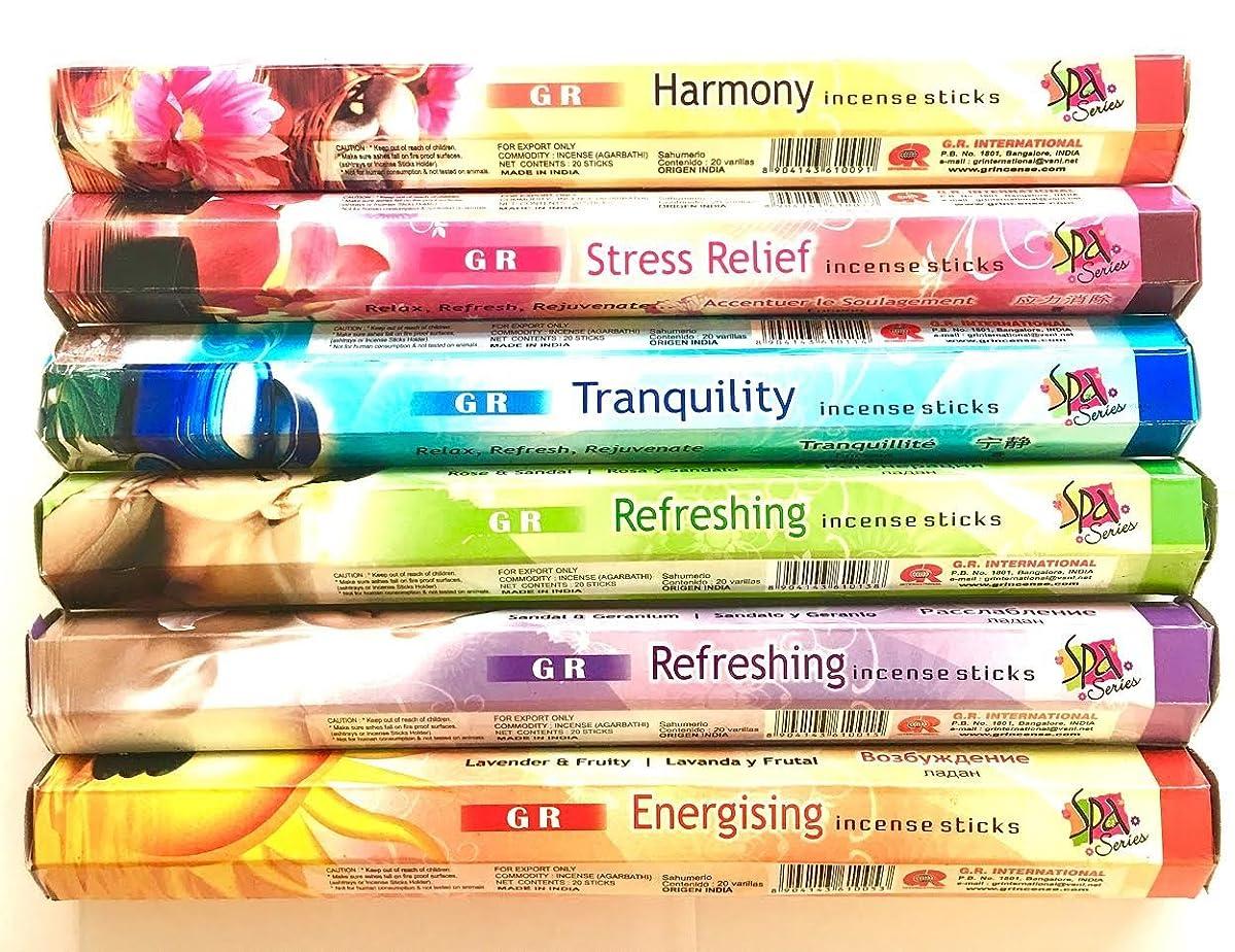 貸し手控える真実GR Incense Sticks Best Sellers 6ボックスX 20スティック、Variety Pack ( # 3?)