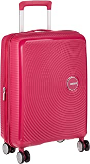 AMERICAN TOURISTER Soundbox - Spinner S Espandibile Bagaglio a Mano, Spinner S (55 cm - 41 L), Rosa (Lightning Pink)