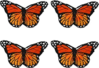 Fabric Applique gifts bags Sew on Iron Patches for Clothing Motif Garment Sewing Craft Decor 4 Piece Butterfly Appliques P...