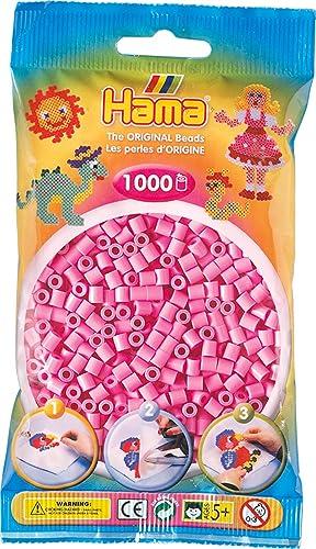 Hama - 207-48 - Loisirs Créatifs - Perles et Bijoux - Sachet 1000 Perles - Rose Pastel