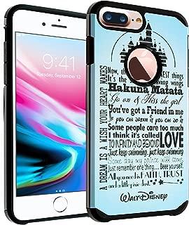 iPhone 8 Plus Disney Quotes Case, DURARMOR Love Dream Disney Quotes Dual Layer Hybrid ShockProof Ultra Slim Fit Armor Air Cushion Defender Protector Cover for iPhone 8 Plus Disney Quotes