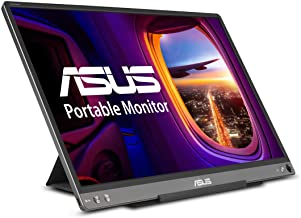 "ASUS ZenScreen MB16ACE 15.6"" Portable USB Type-C Monitor Full HD (1920 x 1080) IPS Eye Care with Lite Smart Case External ..."