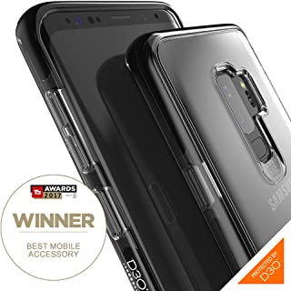 Gear4 Piccadilly Clear Case with Advanced Impact Protection [ Protected by D3O ], Slim, Tough Design Compatible with Samsung Galaxy S9+ – Black