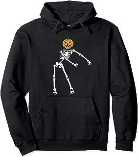 Flossing Skeleton Pumpkin Jack O Lantern Halloween design Pullover Hoodie