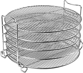 Goldlion Dehydrator Rack Stainless Steel Stand Accessories Compatible with Ninja Foodi Pressure Cooker and Air Fryer 6.5 a...