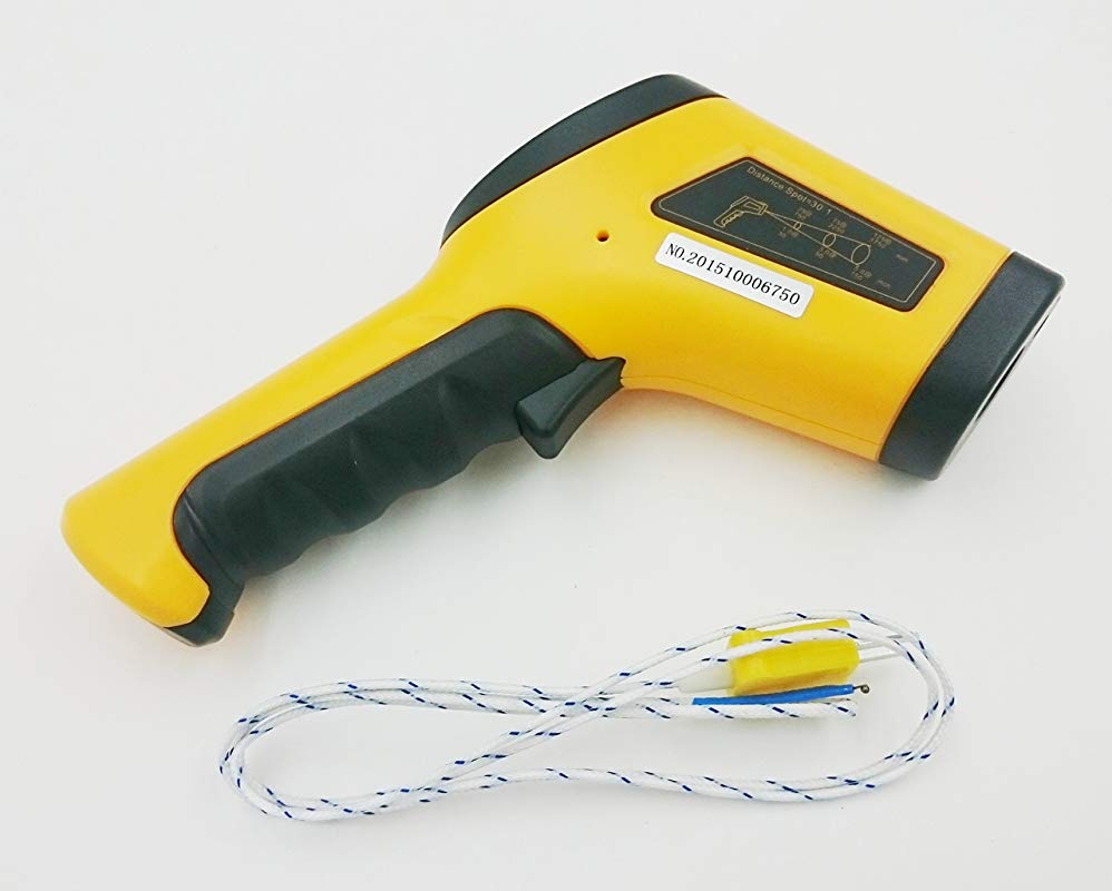 PerfectPrime TM0862 Temperature Digital Non Contact Infrared IR Thermometer Laser Gun 50 550 C 1022 F K Type Thermocouple Contact 58 To 2498 F