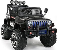 دورسا باجي 4x4 ركوب كهربائية مع ريموت كنترول وموسيقى اسود، 2388-L-BLACK
