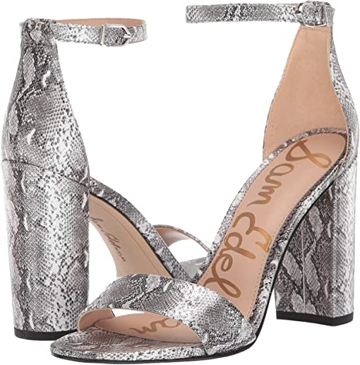 Soft Silver Snake Lagos Metallic Snake Print Leather