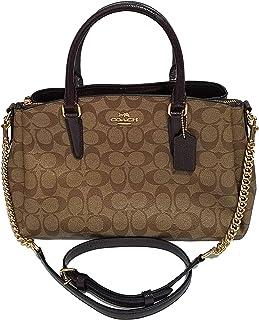 2b4ac6f40f13 Coach Signature Print Trim Carryall Crossbody Bag Sling Womens Purse Nwt