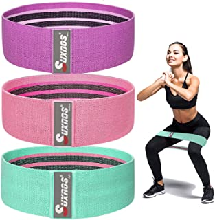 Hysam Resistance Bands Loop Exercise Band for Legs and Butt Hip Yoga Band Fitness Sports Stretch Anti Slip Elastic Physica...